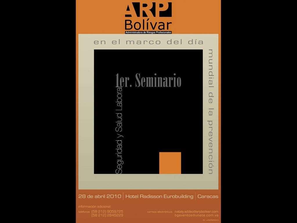 ARP Bolívar. Afiche Seminario