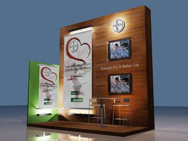Bayer. Proyecto para Tigermark. Stands para exposiciones