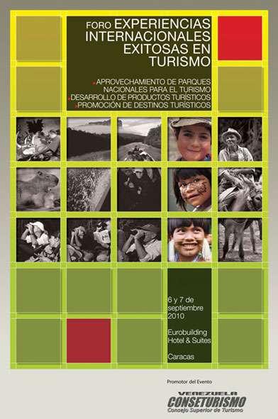 """Conseturismo. Afiche Foro """"Experiencias Internacionales Exitosas en Turismo"""""""