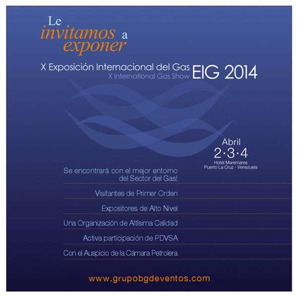 Exposición Internacional de Gas 2014. Gráficas. Proyecto para Grupo BG de Eventos