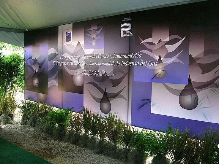 Expogas 2006. Gráfica Acceso. Proyecto para Grupo BG de Eventos