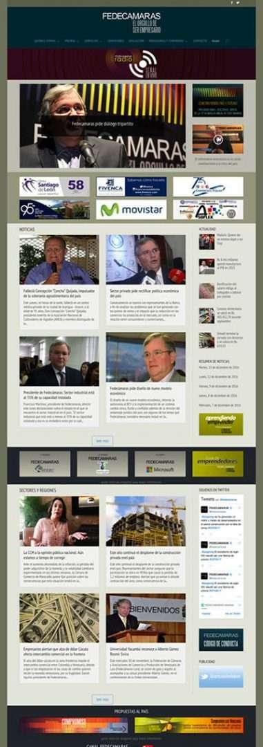 Fedecámaras. Páginas Web