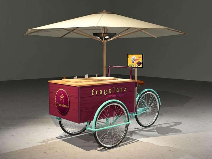 """Fragolate. Diseño Bicicleta para Venta de Helados. """"Viviana"""""""