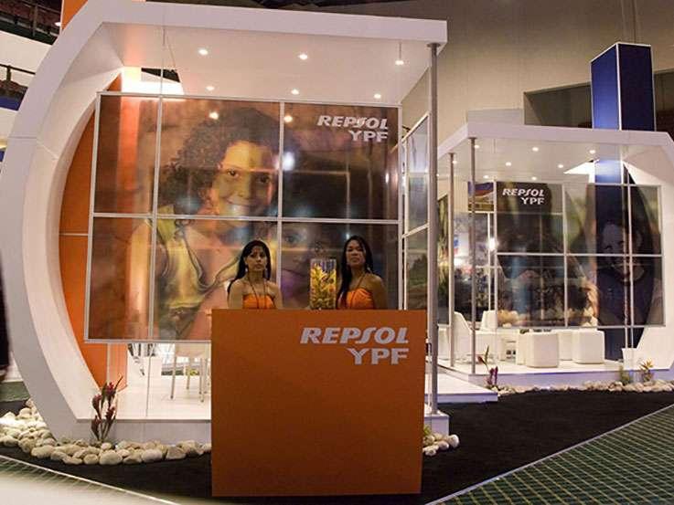 Repsol YPF. Gráficas para Stand en LAPS. Proyecto para Grupo BG de Eventos