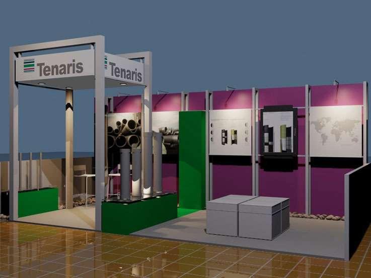 Tenaris. Proyecto para Tigermark. Stands para Exposiciones